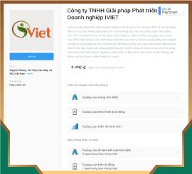 Giới thiệu về iViet trên trang chính thức của Google Partner