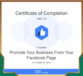 Chứng chỉ công nhận kỹ năng và kiến thức về xây dựng thương hiệu doanh nghiệp